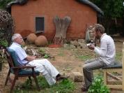 Interviewing Prof Ton Dietz in Ouagadougou (2009)